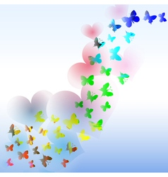 Abstract background with colorful butterfly and vector image vector image