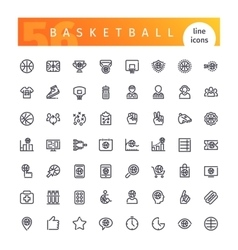 Basketball Line Icons Set vector image vector image
