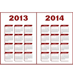 Calendar 2013 2014 vector image