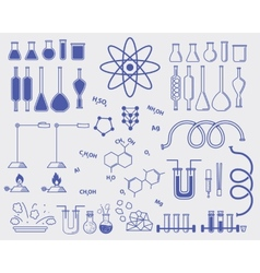 chemistry subjects vector image