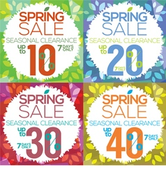 Colorful Spring Sale vector image