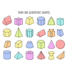 Colorfull 3d geometry shapes vector