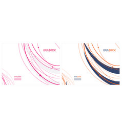 cover for annual report template vector image