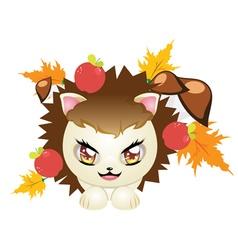 Cute autumn hedgehog3 vector