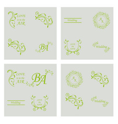 Decorative calligraphic elements floral dividers vector
