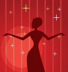 Diva background vector