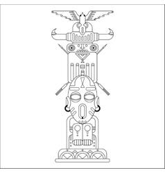 Ethnic totem pole vector