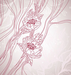 floral sketch background vector image vector image