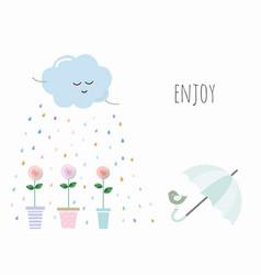 Inspirational card with cute cartoons vector