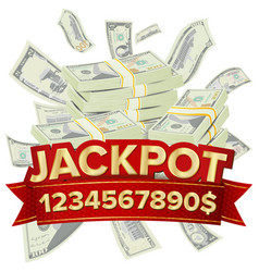 jackpot isolated golden casino treasure vector image