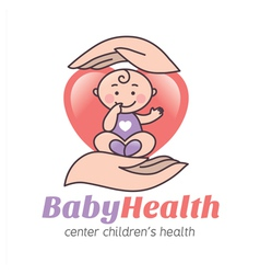 Logo baby health vector