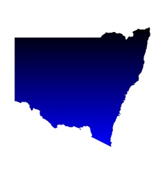 Map of New South Wales vector image vector image