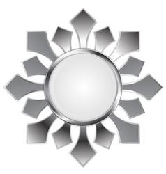 Metallic abstract logo shape vector image vector image