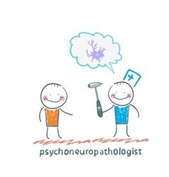 Psychoneuropathologist speaks with the patient vector