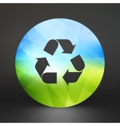 Recycle sign Ecology icon vector image