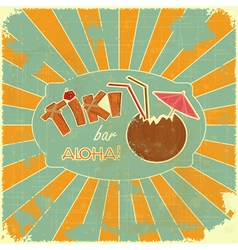 Retro Design Tiki Bar Menu vector image vector image