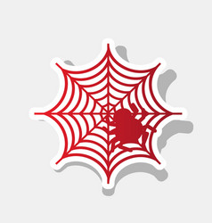 spider on web new year vector image