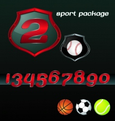 sport package vector image