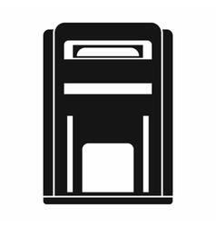 Square post box icon simple style vector