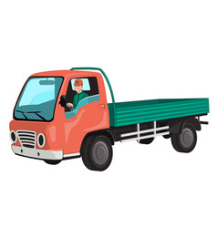 Truck with driver vector