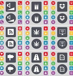 Volume gift dropbox rss marijuana monitor signpost vector