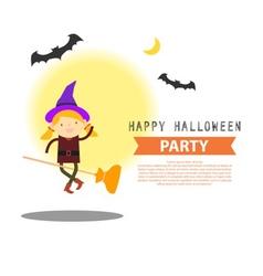 Witch halloween info vector
