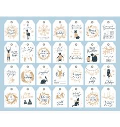Christmas tag collection vector image