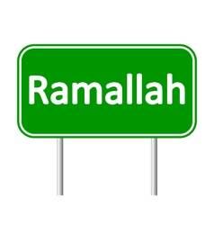 Ramallah road sign vector