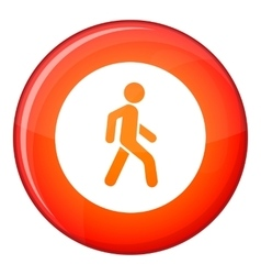 Pedestrians only road sign icon flat style vector