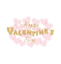 Valentines day background with transparent hearts vector