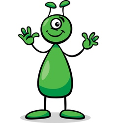 Alien or martian cartoon vector