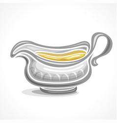 Gravy boat with handle vector