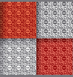 advertising seamless patterns vector image