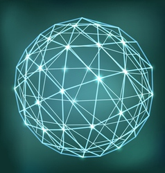 Abstract geometric sphere composition with glowing vector