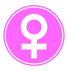 Gender female symbol button vector
