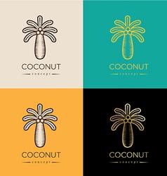 Coconut logo or symbol vector