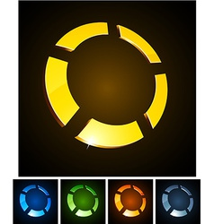 3d round emblems vector image vector image