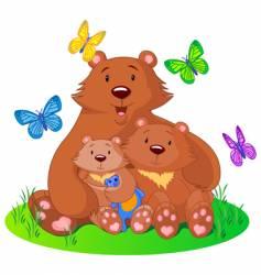 bear famly vector image