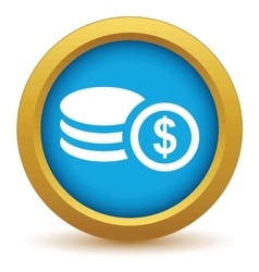 Gold money icon vector