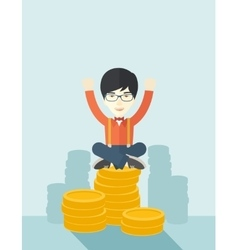 Proud asian businessman vector