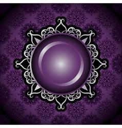 vintage emblem on seamless background vector image