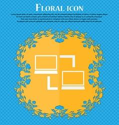 Synchronization sign icon Notebooks sync symbol vector image