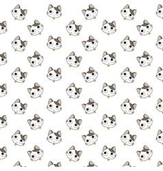 Cute cartoon cats pattern vector