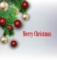 White card with Christmas vector image