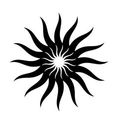 Solar energy black simple icon vector image