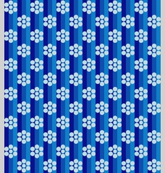 Flowers on blue lines vector