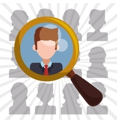 human resources icon design vector image