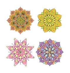 Colorful round mandala ornament vector image