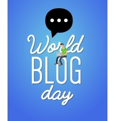 World blog day card vector