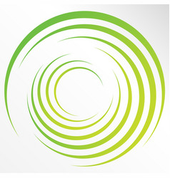 abstract bright background with circles and green vector image